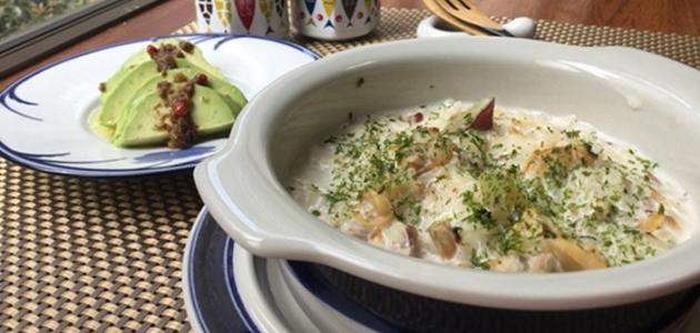 中島菜のパスタグラタン風